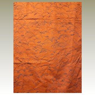 Schumacher Screen Print Fabric Named Grasses of Eden