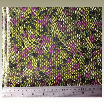 VIP Fabrics Inc Cotton Fabric Greens Fuchsia