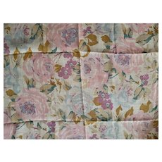 Muted Floral Vintage Cotton Voile Fabric