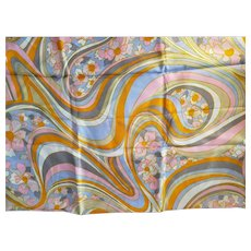 Loomskill Psychedelic Print Fabric 1960s-70s
