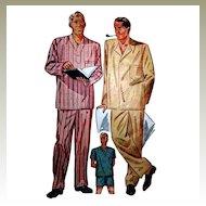 Simplicity 1202 Men's Sz Large P J's Pajama Pattern Short Long Trousers