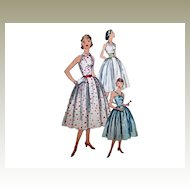 Sz 14 Simplicity 1950s Party or Sun Dress Sewing Pattern No 2064