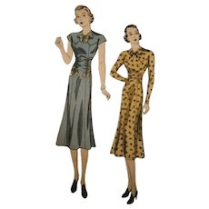 DuBarry 1935B from 1930s Sewing Pattern Waist Ruching