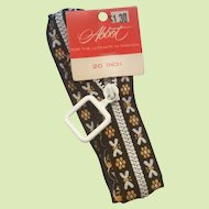 20 inch 1960s Wide Embroidered Tape Zipper by Abbot