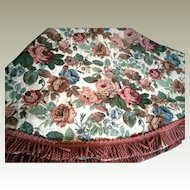 Round Brocade Table Cover with Bullion Fringe 82 inches diameter