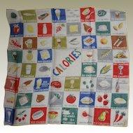 Burmel Handkerchief Calories Original Paper Label Intact Hankie