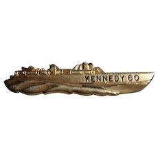JFK Kennedy 1960 PT 109 Tie Clip by Jolle