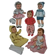 McCalls 8125 Doll Clothes Pattern Knit Sew In Factory Folds