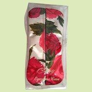 Vintage NOS 1960s Celebrity Floral Eyeglass Case in Original Mylar Box