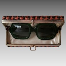 Jackie Kennedy Look Vintage Cool Ray Polaroid Sun Glasses With Hard Case