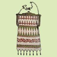 Mandalian 1920s Art Deco Metal Mesh Handbag Purse Bag