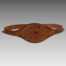 Tooled Leather Ladies Belt by Western Leathercrafters Makers Laramie Wyo