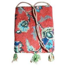 Authentic 1960s Hippie Carpet Bag Purse