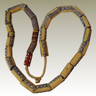 Mostly Yellow African Trade Beads
