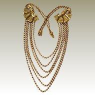 Ball Chain Bib Style Necklace