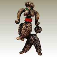 JJ Poodle Pin Standing Prancing Dancing on Hind Legs Jonette Jewelry