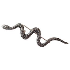Sterling Snake Pin or Pendant Brooch 925