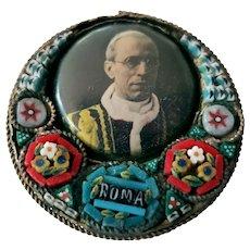 Pope Pius XII Mosaic Vatican Souvenir Pin