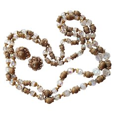 Amourelle Frank Hess Necklace Clip Earrings Set