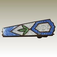 Blue White Green Hard Enamel Tie Clip