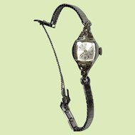 Ladies Watch by Louis Watch Co.17 Jewels Keeping Good Time 2 Tiny Diamonds