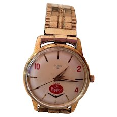 Elgin Dr. Pepper Wrist Watch Keeps Perfect Time