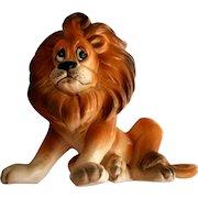 Josef Originals Sad Faced Lion Figurine Original Paper Label