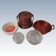 Sale:  Lot #3 Kitchen Items for Large Dollhouse or Doll's Kitchen Room