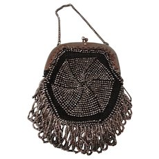 HALF PRICE:  Sparkly Doll Purse Made of Steel Cut Beads