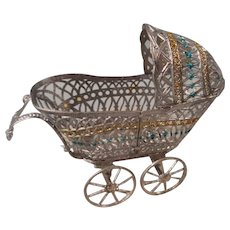 Soft Metal Baby Carriage Germany