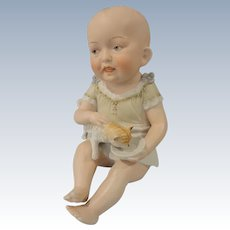 SALE:  Precious Large Carl Schneider Piano Baby Holding Cat