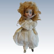 Funny Little 5 Inch Mignonette Bisque Head, Wood Body
