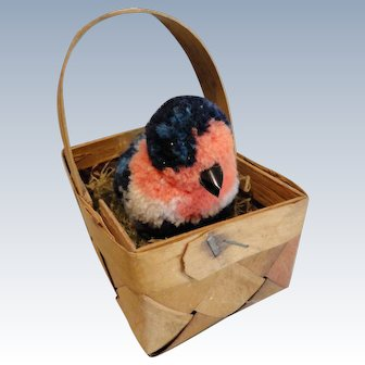 Steiff Wooly Bird in German Basket