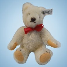 Little White Steiff Bear 6 1/2 Inches