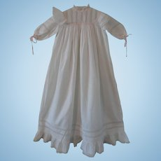 Exceptionally Pretty Edwardian Christening Gown for Doll or Baby