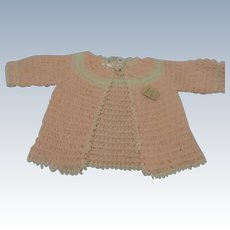 Sweet Baby Sweater for Large Baby Doll w/Tag