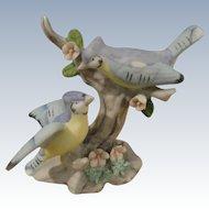 Figurine Pair of Bluejays, for Dollhouse or Salon