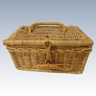 Small Wicker Doll Trunk