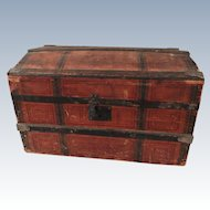 "Large Doll Trunk 16x9x10"" w/Tray"