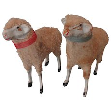 "Pair 3 1/4"" Putz Sheep"