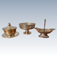 3 Pieces Sterling Tableware for French Fashion Dining