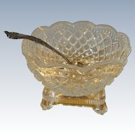 Glass Punch Bowl and Sterling Spoon for a French Fashion Buffet