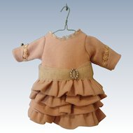 """Special Artist Made Pink Wool Challis Dress for 10-11"""" Doll"""
