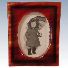 Faux Tortoiseshell Dolly Picture Frame