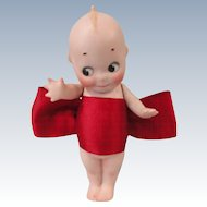 "5 1/2"" Kewpie in Red Christmas Bow"