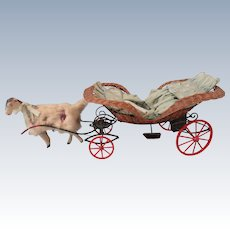 Unique and Beautiful 19th Century Wicker Goat Cart
