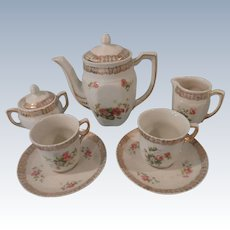 9 Piece German Child's Tea Set w/ Roses
