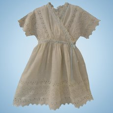 Lovely Dress for Toddler or Large Doll, Much Embroidery