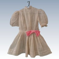 """Antique Off-white Dress for 20"""" Doll"""