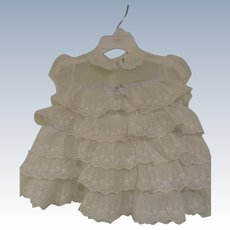 Sweet 1950s Ruffled Baby Dress